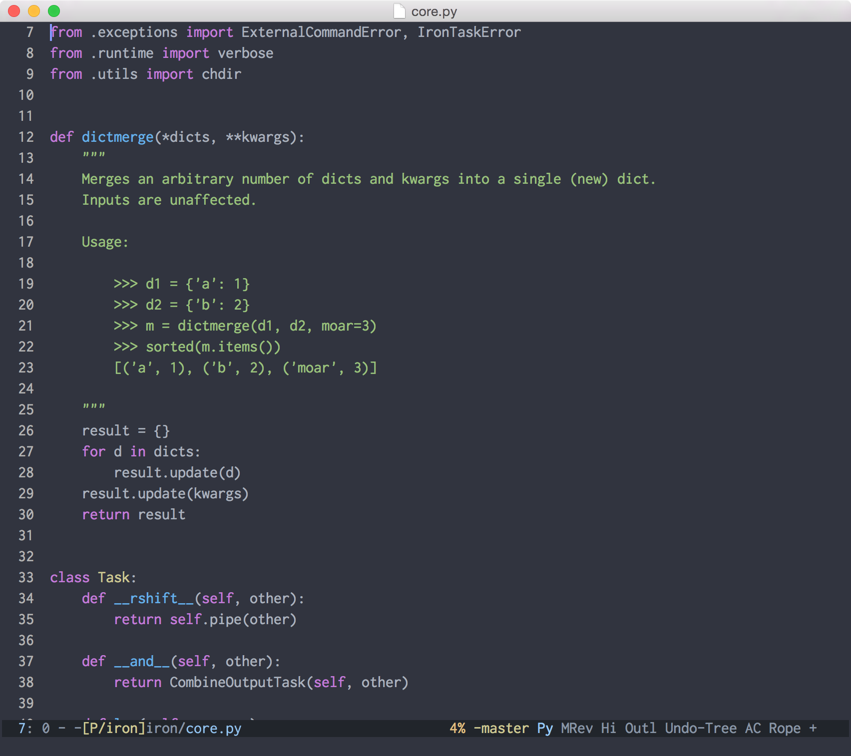 Atom One Dark Theme for Emacs screenshot